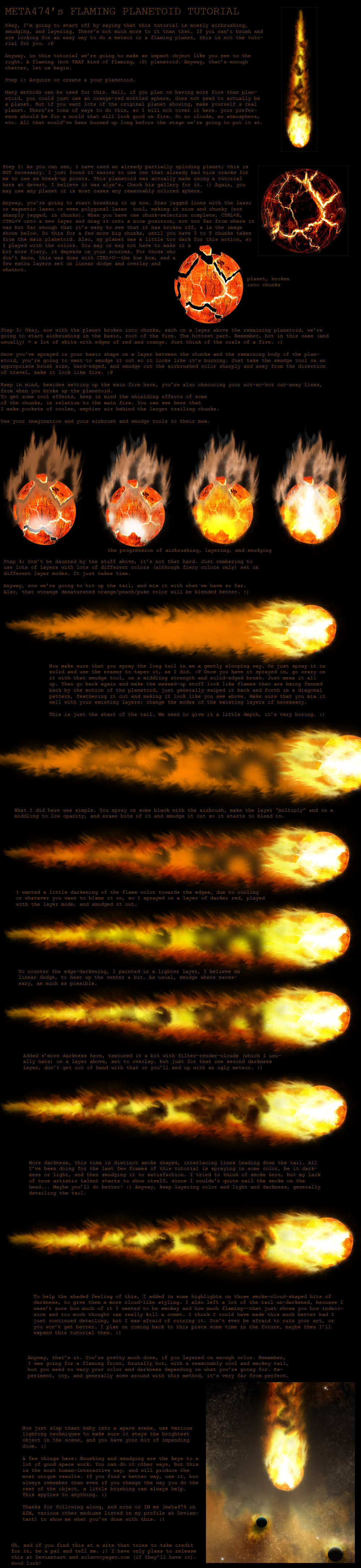 flaming asteroid hitting the earth - photo #33